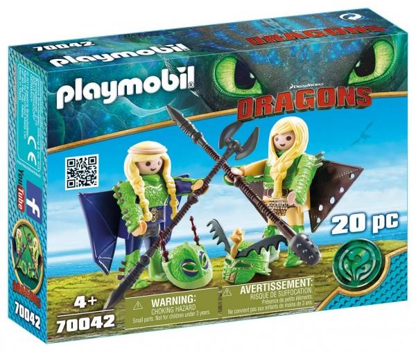 PLAYMOBIL® 70042 - Dragons - Raffnuss und Taffnuss mit Fluganzug