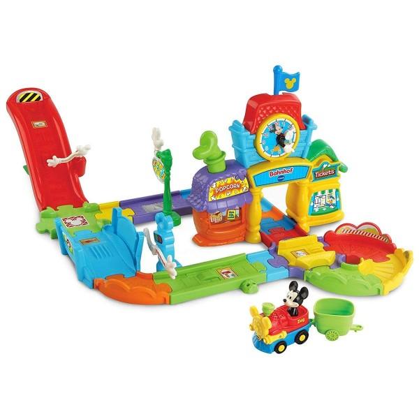 V-Tech 80-512204 - Tut Tut Babyflitzer - Micky Mouse Bahnhof, Spielset