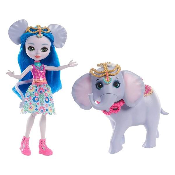 Mattel FKY73 - Enchantimals - Ekaterina Elephant mit Elefant Antic