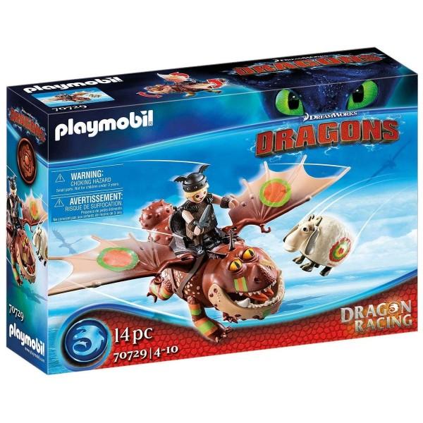 PLAYMOBIL® 70729 - DreamWorks Dragons - Dragon Racing - Fischbein und Fleischklops
