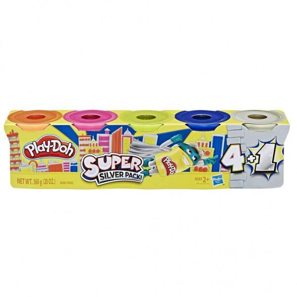 Hasbro E8142 sort. - Play Doh - Knete, 560g, 5-er Pack, mehrfach sortiert