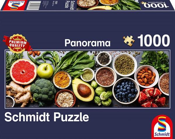 Schmidt 58361 - Premium Quality - Auf dem Küchentisch - Panorama Puzzle 1000 Teile