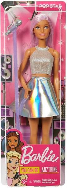 Mattel FXN98 - Barbie - Pop Star Puppe mit Mikrofon