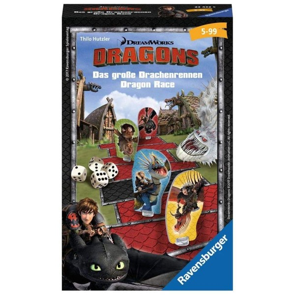 Ravensburger 23432 - Dragons - Das große Drachenrennen - Mitbringspiel