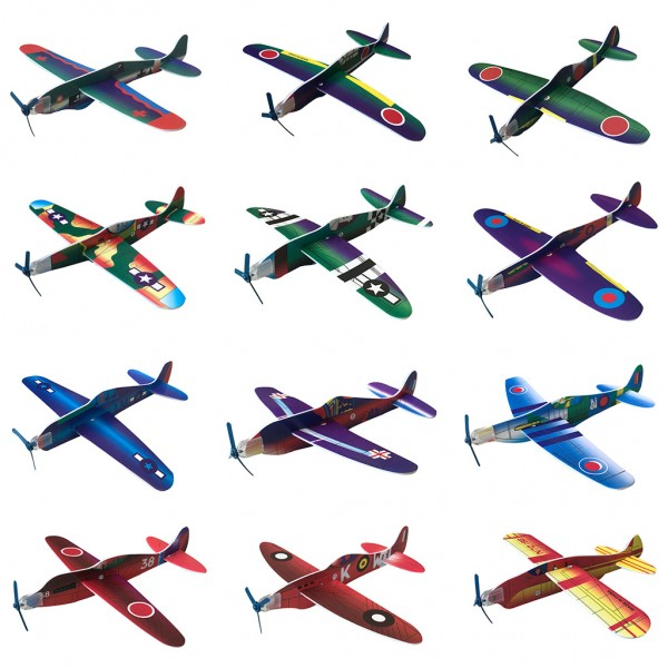 DIV 4139 Folie Display BUNDLE - Power Prop Flying Gliders - 12 Styropor-Flieger zum Zusammenbauen, 1