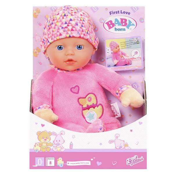 Zapf 825310 - BABY born - First Love - Puppe mit Rasselfunktion, 30 cm