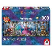 Schmidt 59612 - Premium Quality - Ciro Marchetti - Eispalast, 1000 Teile Panorama-Puzzle