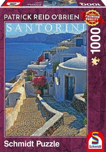 Schmidt 59584 - Premium Quality - Patrick Reid O'Brien - Santorini, 1000 Teile Puzzle