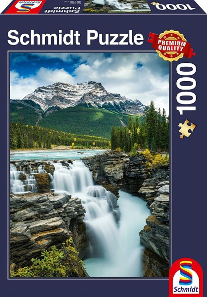 Schmidt 58360 - Premium Quality - Athabasca Wasserfall, Kanada, 1000 Teile Puzzle