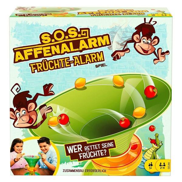 Mattel GDJ90 - Kinderspiel, SOS Affenalarm, Früchte Alarm
