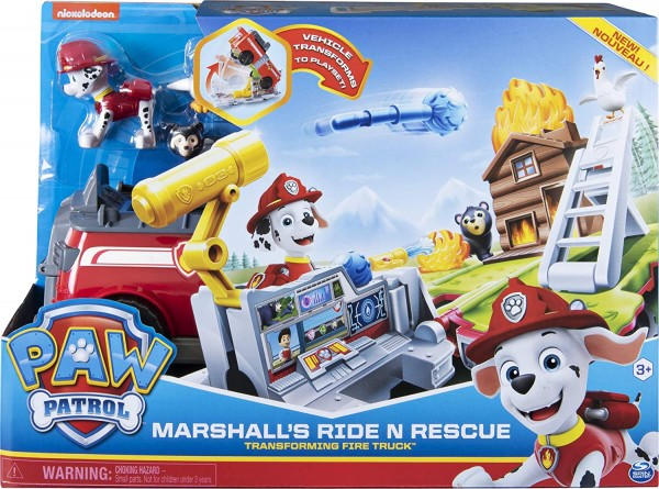 Spin Master 6046797 (20107845) - Paw Patrol - Marshall's 2in1 Spielset; Fahrzeug & Spielwelt