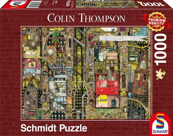 Schmidt 59355 - Premium Quality - Colin Thompson - Fantastisches Stadtbild, 1000 Teile Puzzle