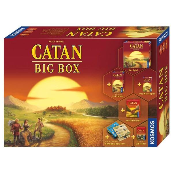 Kosmos 693152 - Die Siedler von Catan - Catan - Big Box 2019 inkl. Erweiterung, Würfelspiel & 4 Szen