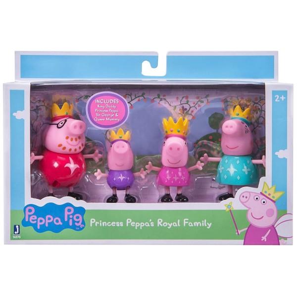 Jazwares 96575 - Peppa Pig - Königsfamilie 4er Pack
